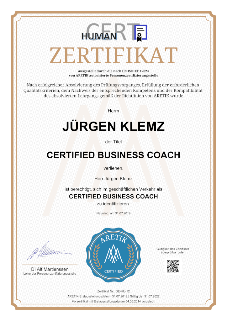 Business Coach Jürgen Klemz